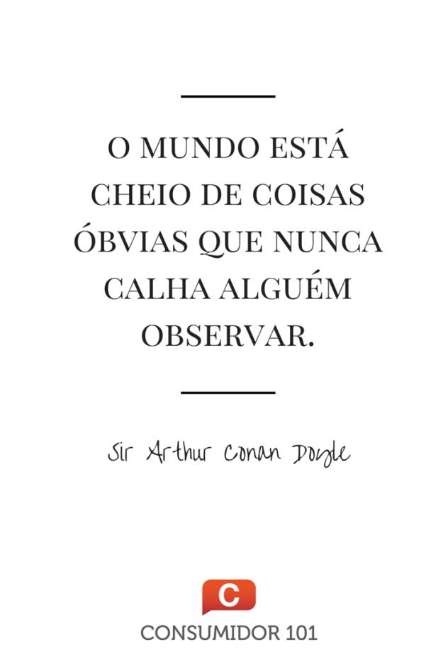 Citação Sir Arthur Conan Doyle